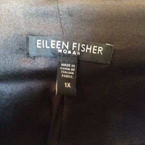 Gorgeous Eileen Fisher brown one-button blazer 1X
